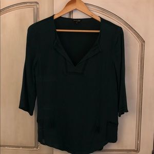 Forest-Green Blouse